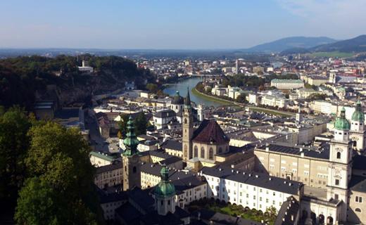 ザルツブルク要塞からの風景