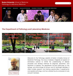 Boston University Webサイト