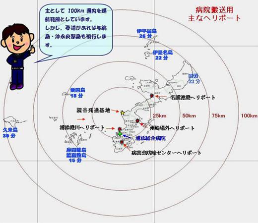 沖縄ドクターヘリ運行範囲